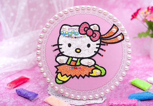 可爱的kityy猫创意珍珠泥diy饰品欣赏