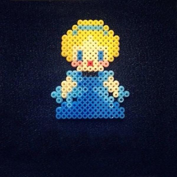 最美的可爱小公主系列手工拼豆diy作品欣赏