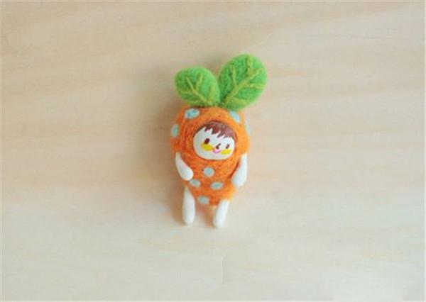 羊毛毡手工diy制作的各种可爱蔬菜小人创意作品