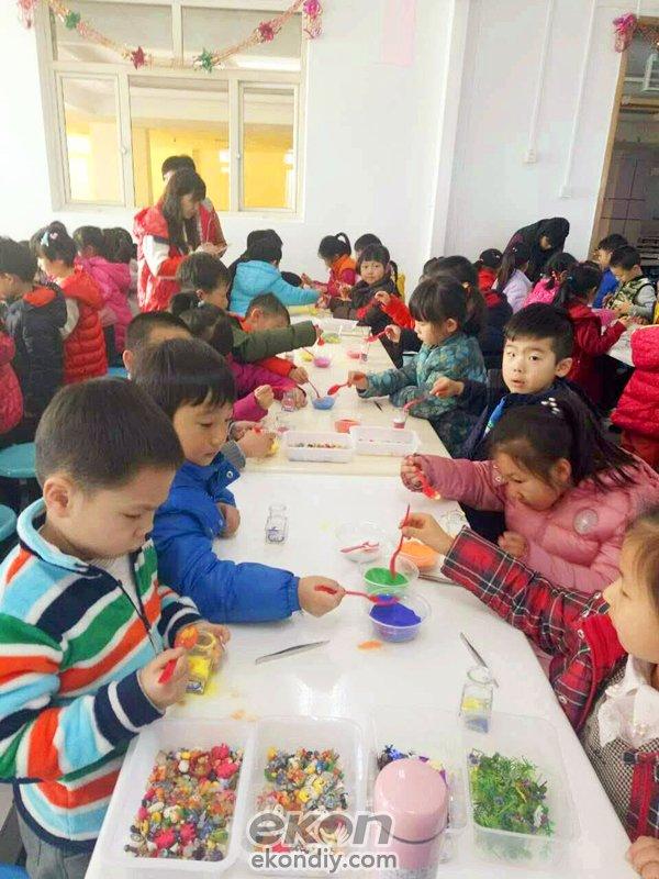 丁飞的儿童手工制作坊蜡烛创意店圣诞节活动分享图片