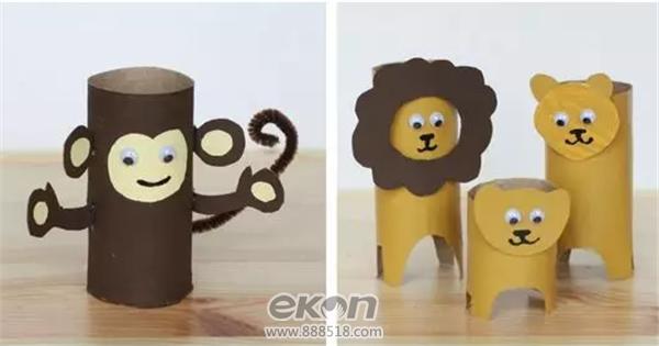 diy手工创意生活馆教你用纸筒造出一个动物园