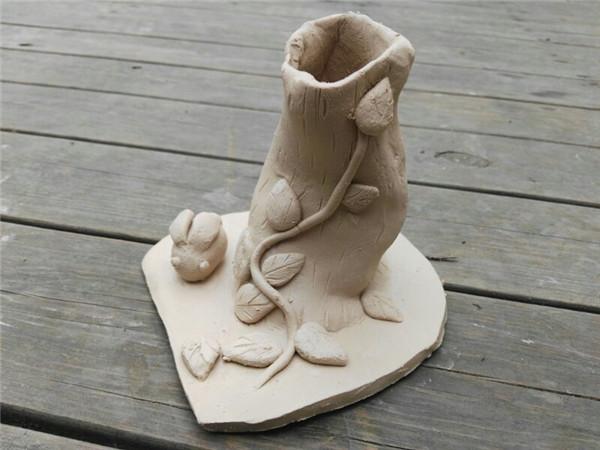 創意diy兒童手工制作坊分享手工陶土泥塑作品