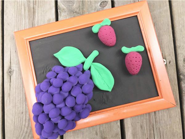 diy儿童手工制作坊的美味大颗的葡萄熟啦