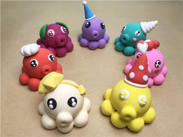 儿童手工乐园超轻粘土作品:章鱼合集
