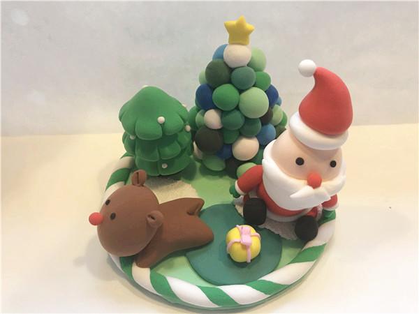 儿童手工diy乐园粘土作品圣诞老人