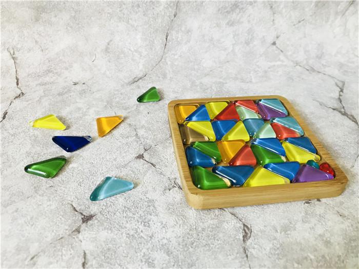 蜡烛diy手工乐园创意马赛克琉璃杯垫图片